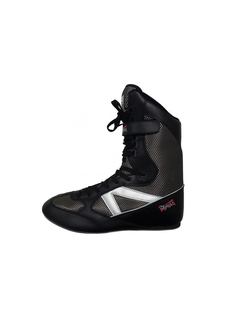Boxing Shoes Olympus MESH High-Top Black/Silver