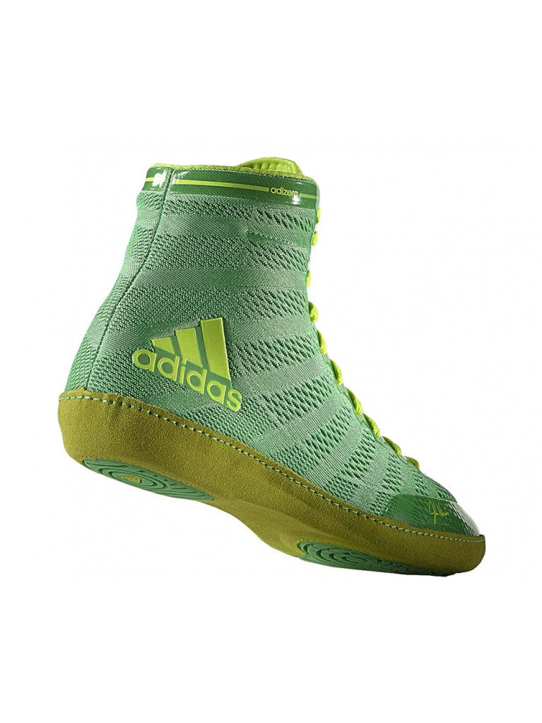 Wrestling Shoes adidas adiZero XIV VARNER Flash Lime / Solar Yellow – S77932