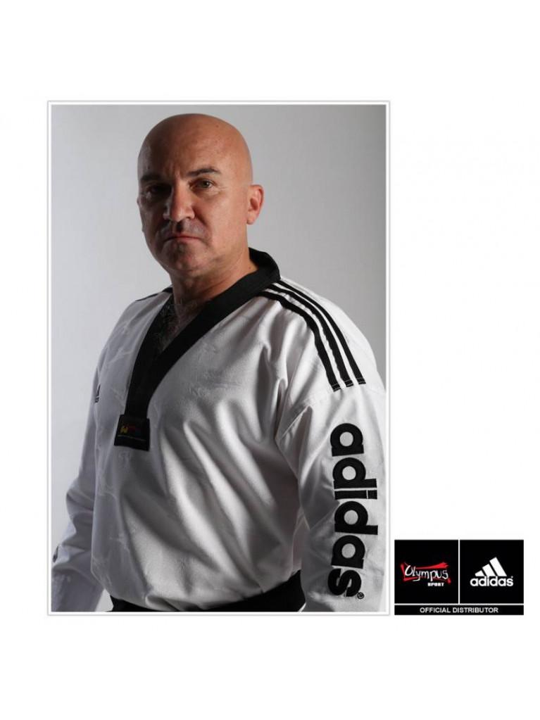 Taekwondo Uniform adidas - SUPER MASTER II Black Collar - ADITSM01