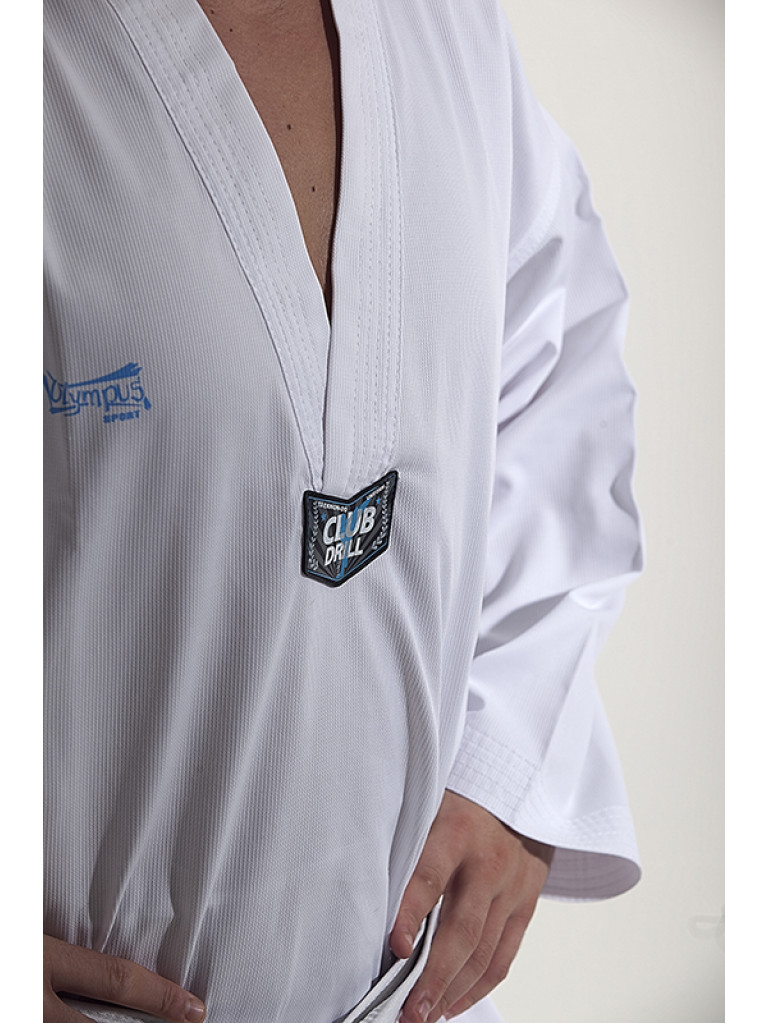 Taekwondo Uniform - CLUB RIBBED White Collar