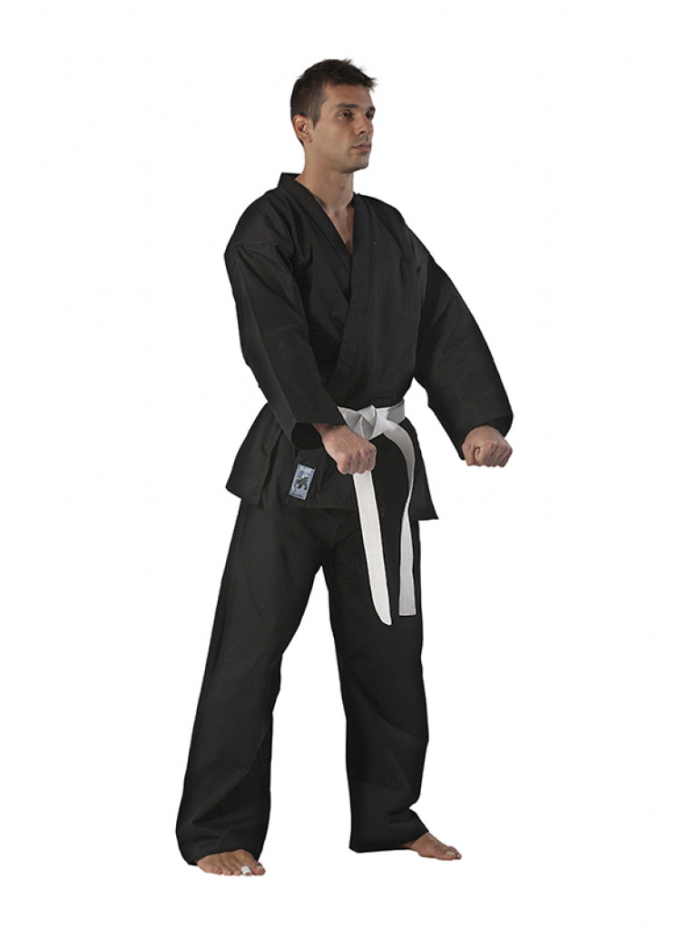 Martial Arts Uniform Black 8oz Olympus