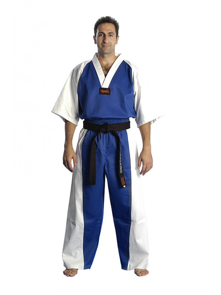 Semi Contact Uniform - Hellas Blue/White