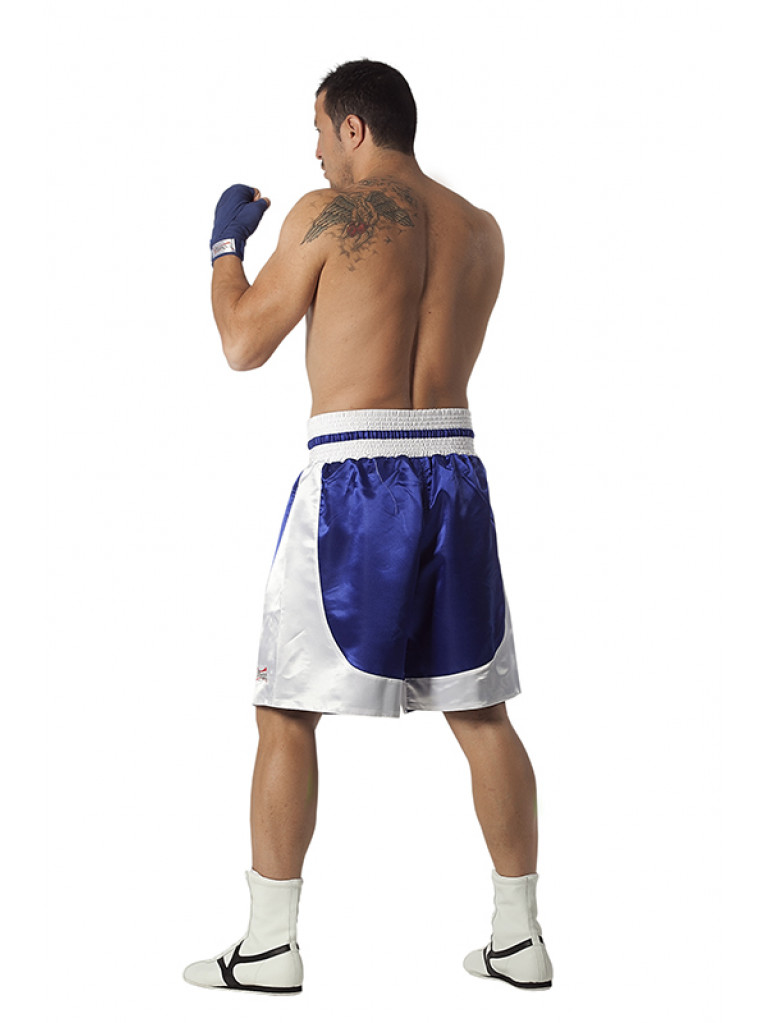 Boxing Shorts Olympus - Standard Silk Blue / White