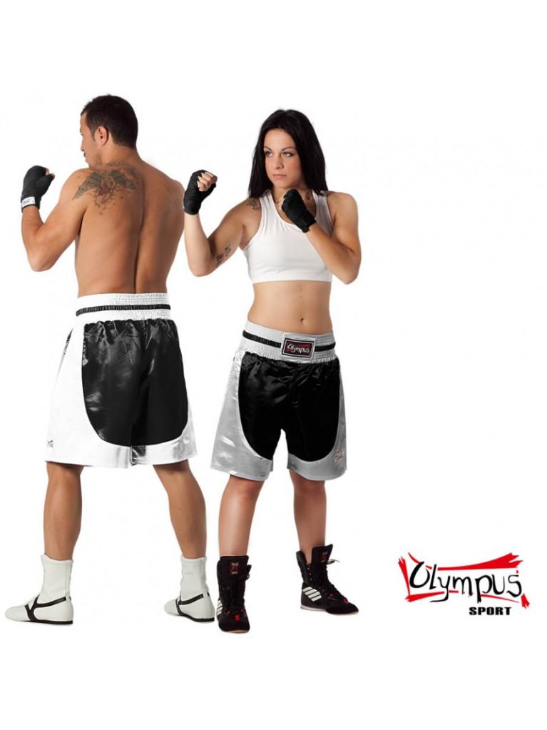 Boxing Shorts Olympus - Standard Silk Black / White