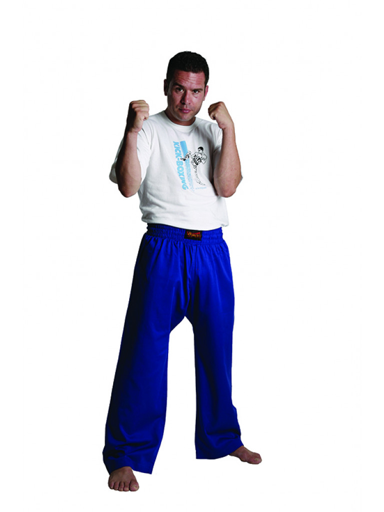 Trousers Olympus Cotton Blue