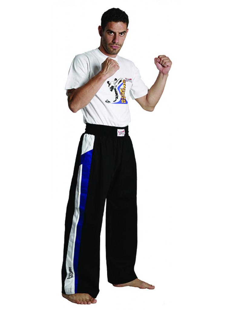 Trousers Olympus Cotton Black (blue / white stripe)