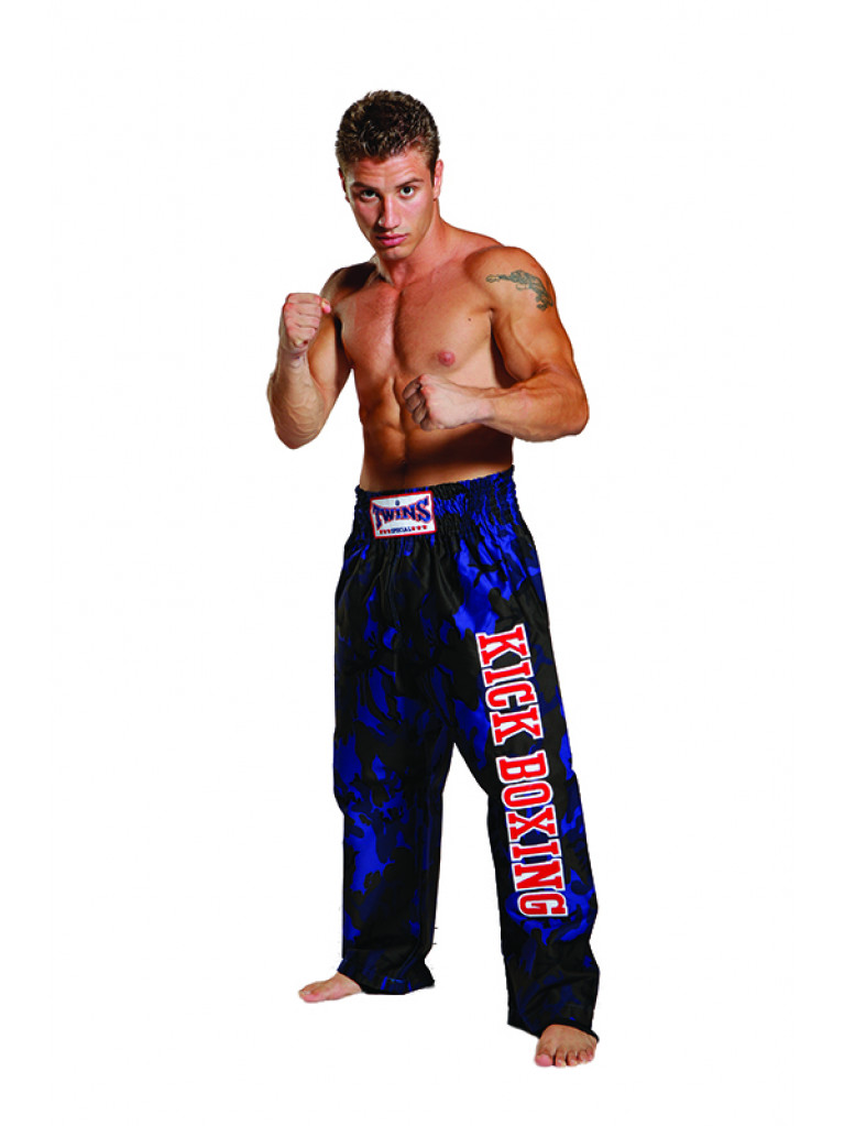 Trousers Twins - Cotton Army Blue