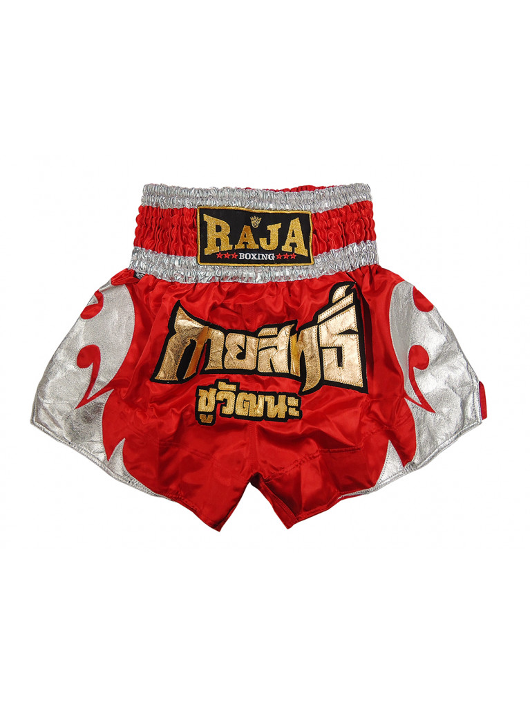 Thaiboxing Shorts Raja TRIBAL Red / Silver - RTB-359
