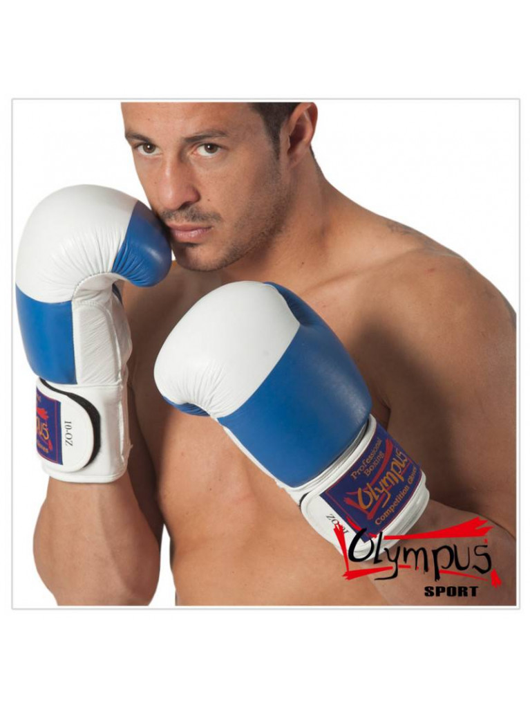Boxing Gloves Olympus - COMPETITION 10oz Blue / White