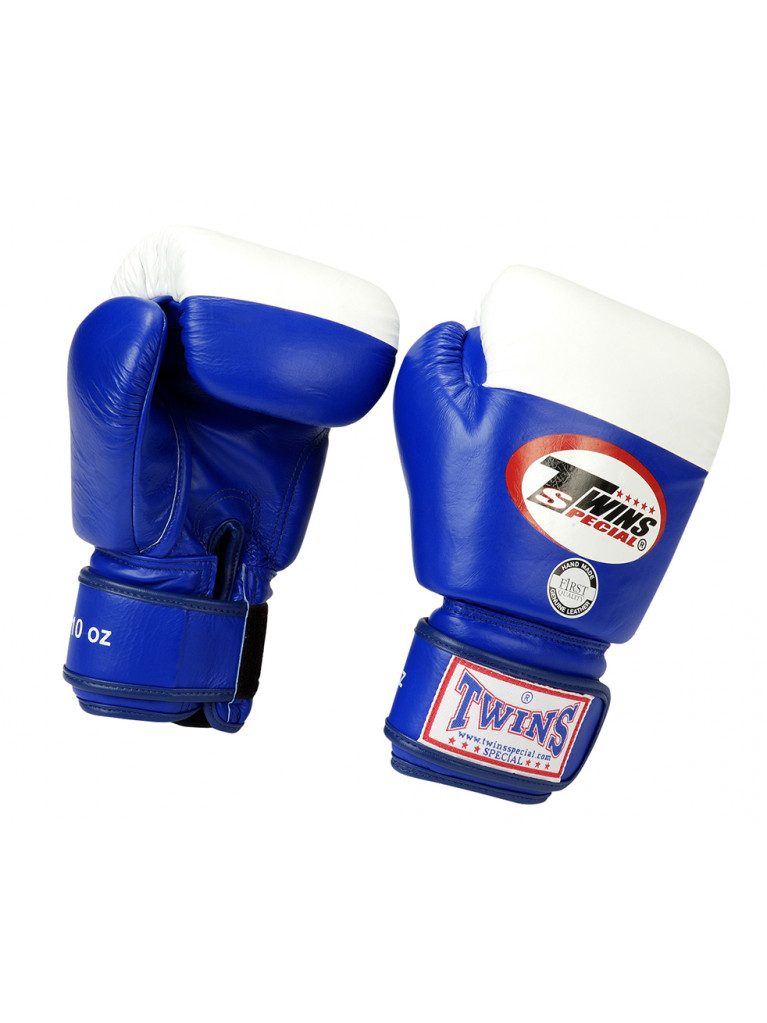 Boxing Gloves Twins - COMPETITION 10oz Blue / White