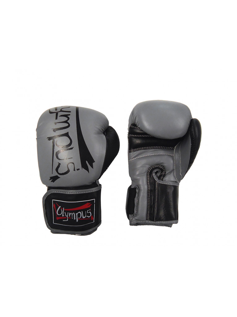 Boxing Gloves Olympus - Leather ELITE Black/Grey