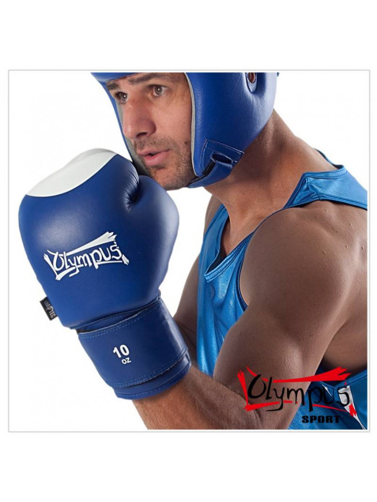 Boxing Gloves Olympus - CONTEST Cowhide Leather 10oz Blue / White