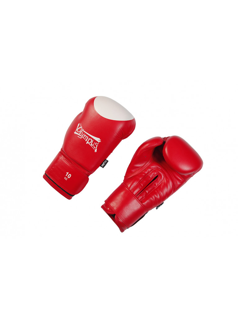 Boxing Gloves Olympus - CONTEST Cowhide Leather 10oz Red / White