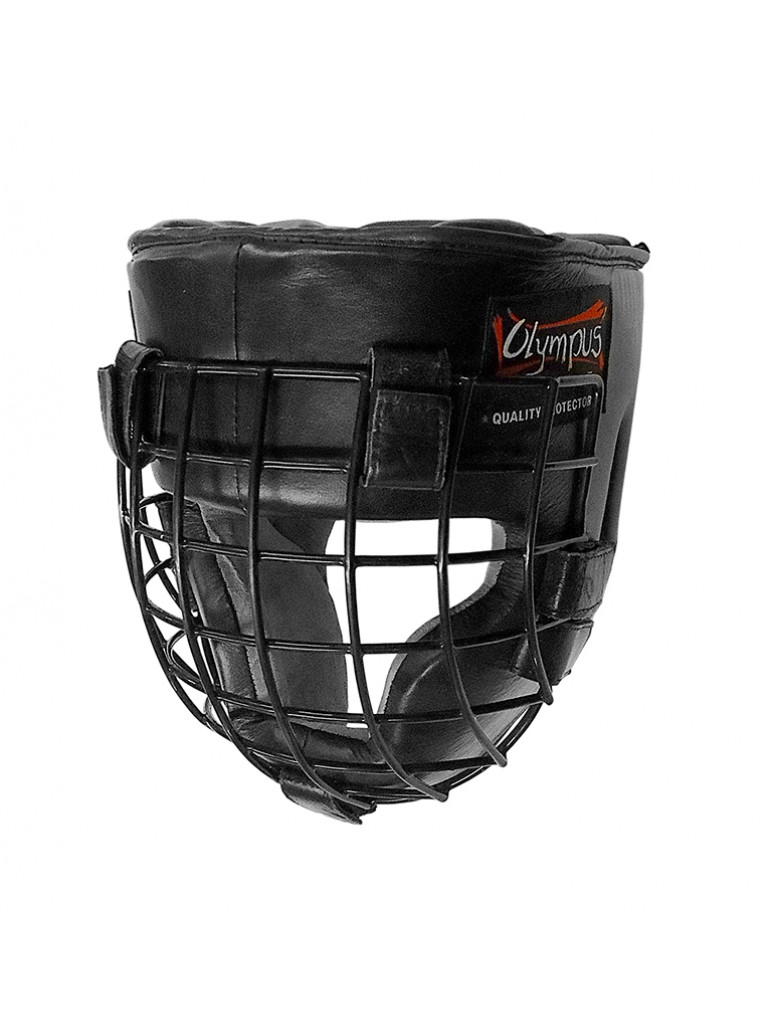 Head Guard Olympus Leather Gladiator Metal Cage