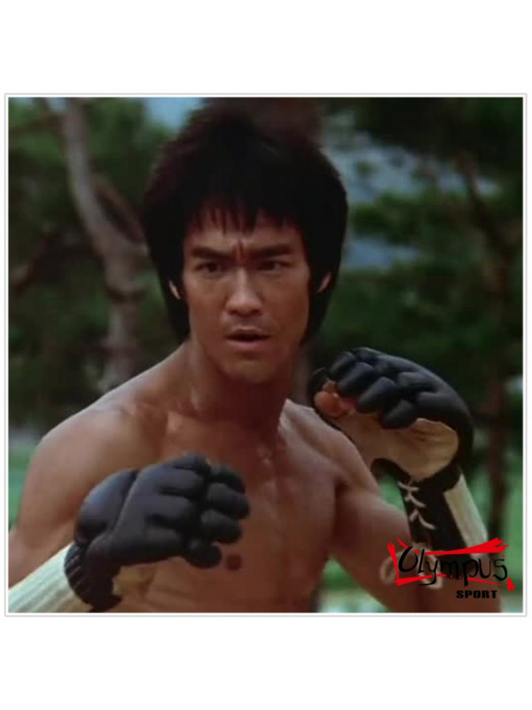 "Bruce Lee ""Enter The Dragon"" Kempo Gloves Olympus Leather"