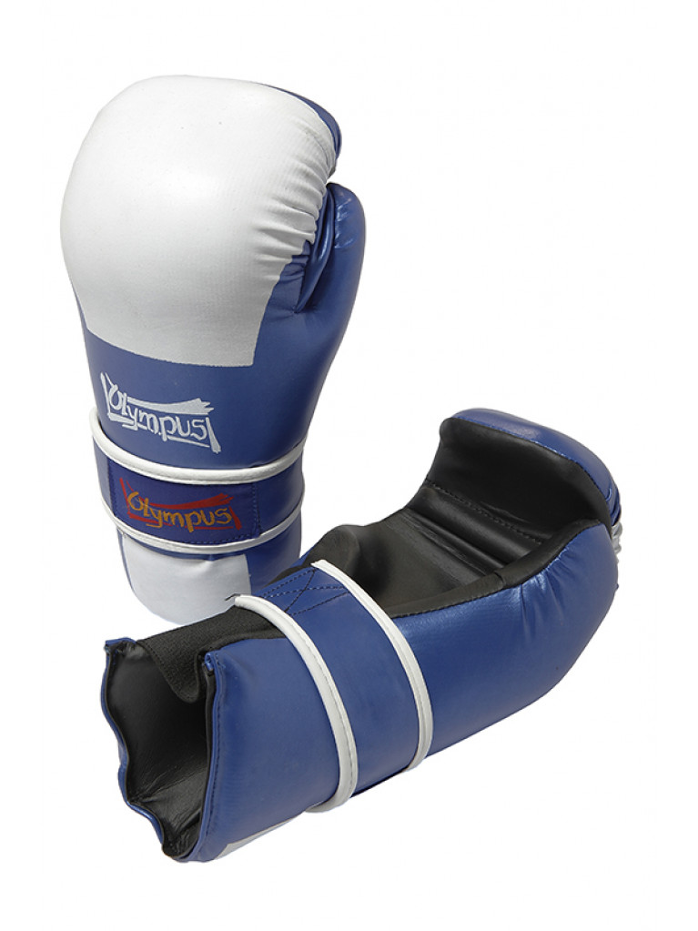 Semi Contact Gloves PVC - Competition Blue / White