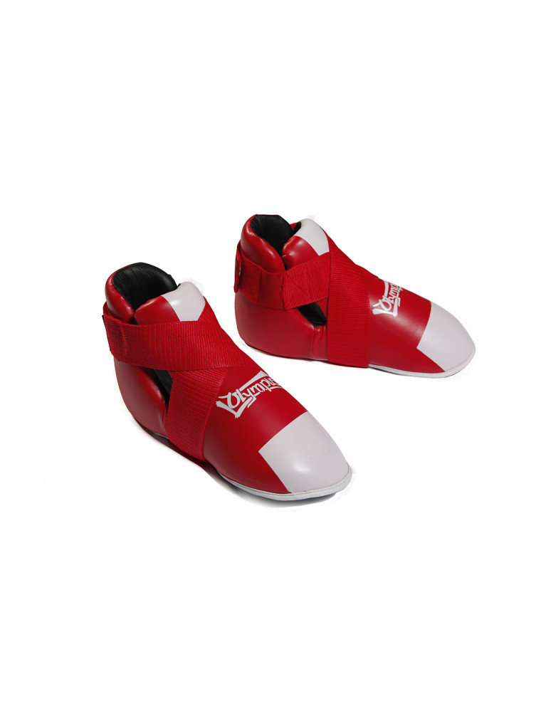 Semi Contact Shoes PVC - Competition Red / White