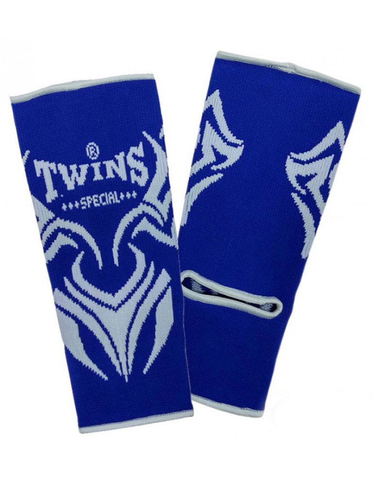 Ankle Guard Twins Cotton TRIBAL Blue / White Pair