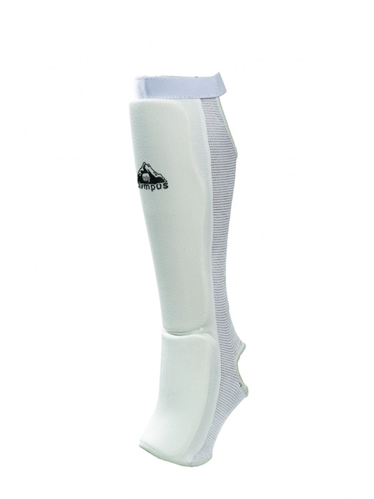 Shin Instep Guard Olympus Cotton JJ White