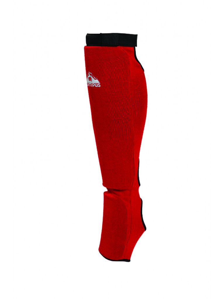 Shin Instep Guard Olympus Cotton JJ Red