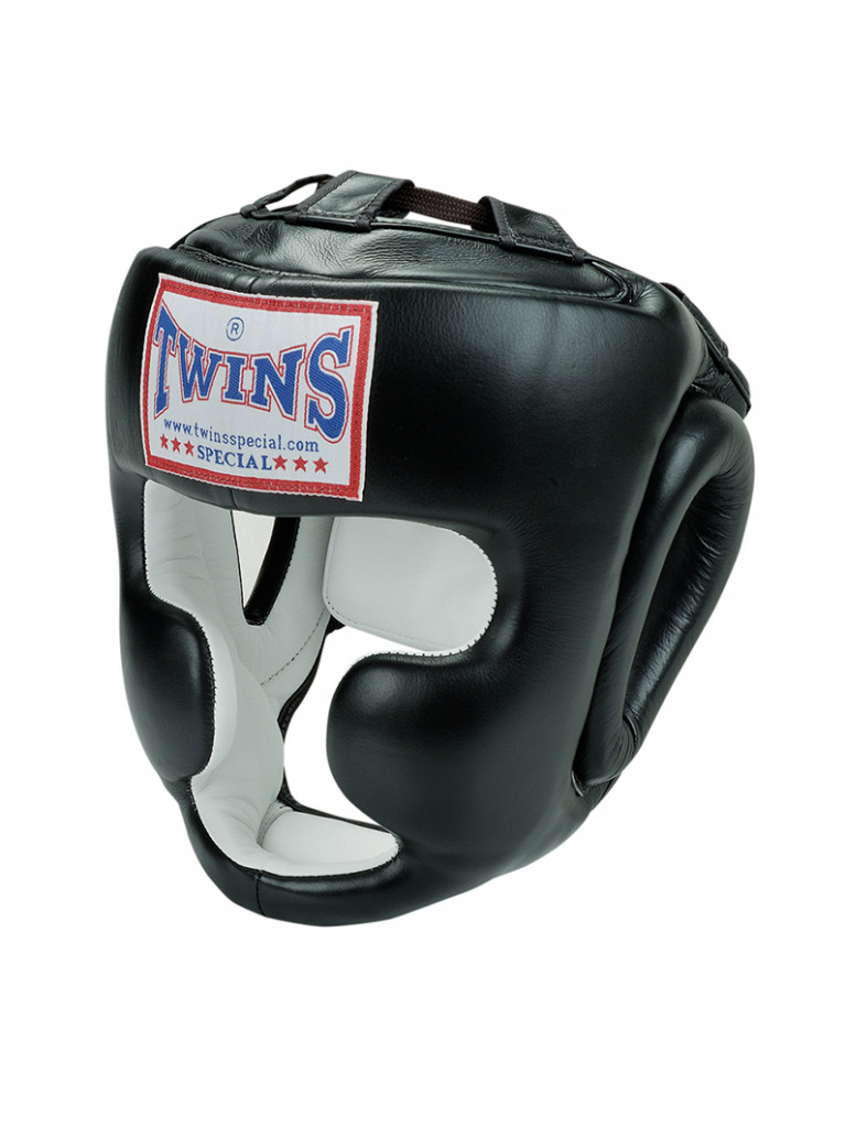 Head Guard Twins - Leather Chin & Chick Protection