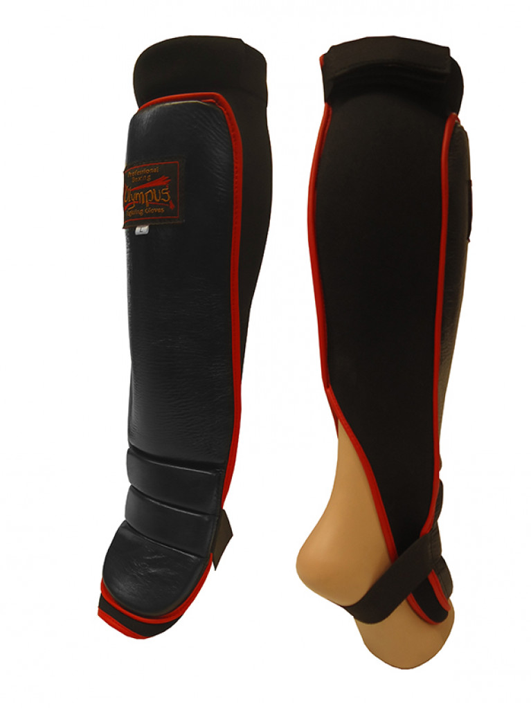 Shin Instep Guard Olympus MMA Leather / Neoprene Pair