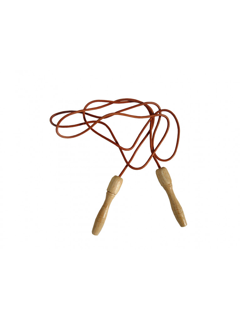 Jumping Rope Leather Wooden Handles 234cm