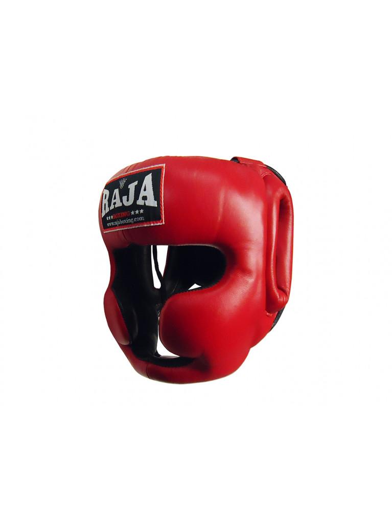 Head Guard Raja Chin and Cheek Protection Leather Black