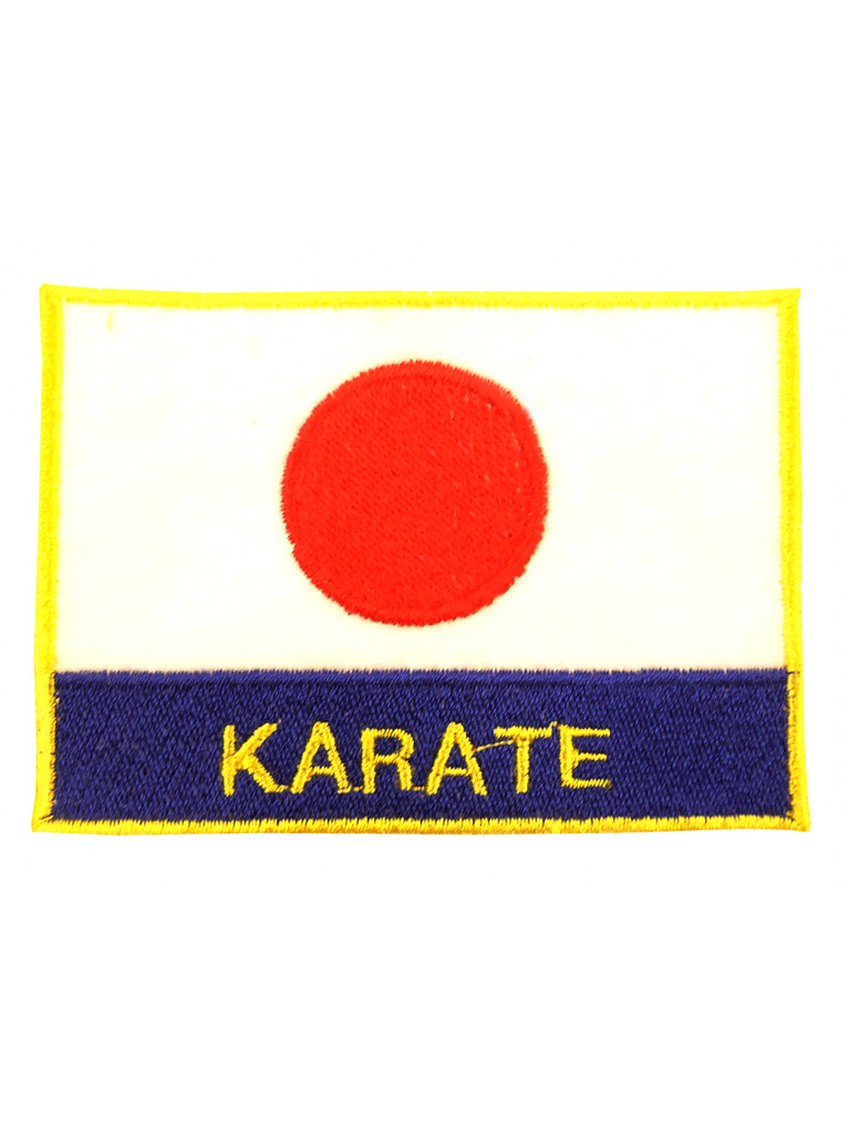 Embroidery Patch - Flag Japan KARATE