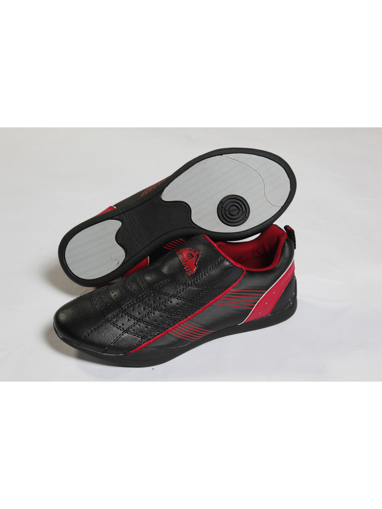 Training Shoes Olympus - KICK LIGHT (Black with red / silver stripes)