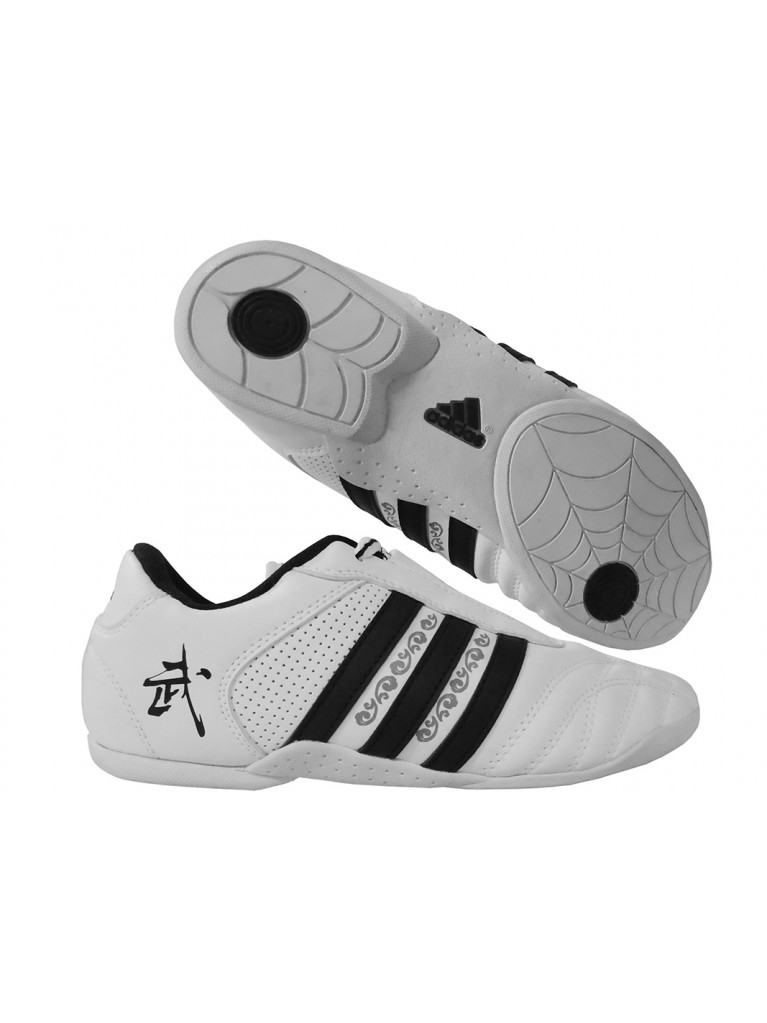 Wu-Shu Shoes adidas White - Black Stripes