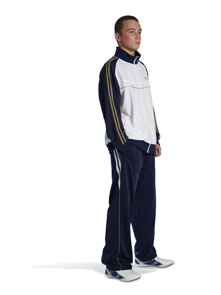Tracksuit Olympus GALAXY Blue / White & Golden Stripes