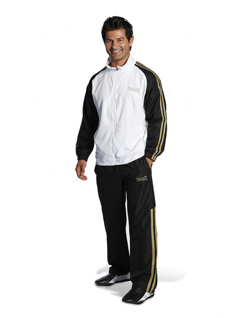 Tracksuit olympus GALAXY ELITE Black / White & Gold Stripes