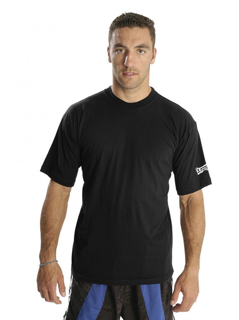 T-shirt Olympus Black Round Neck 100% Cotton