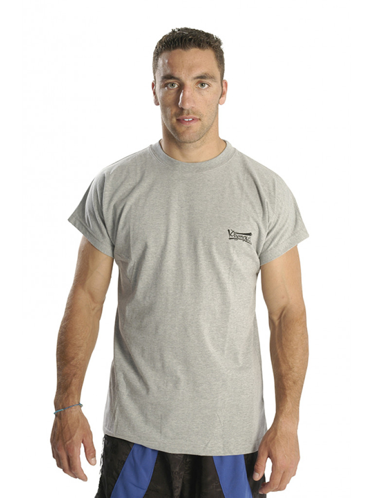 T-shirt Olympus Grey Short Sleeves 100%Cotton