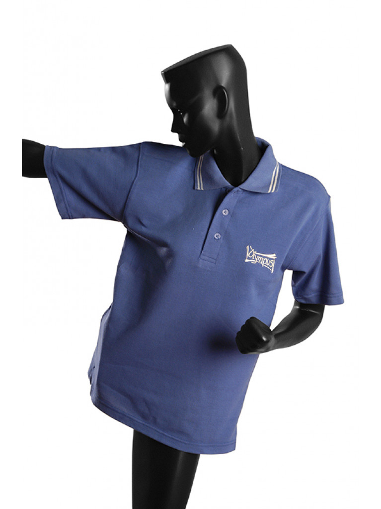 T-shirt Olympus Blue Polo 100% Cotton