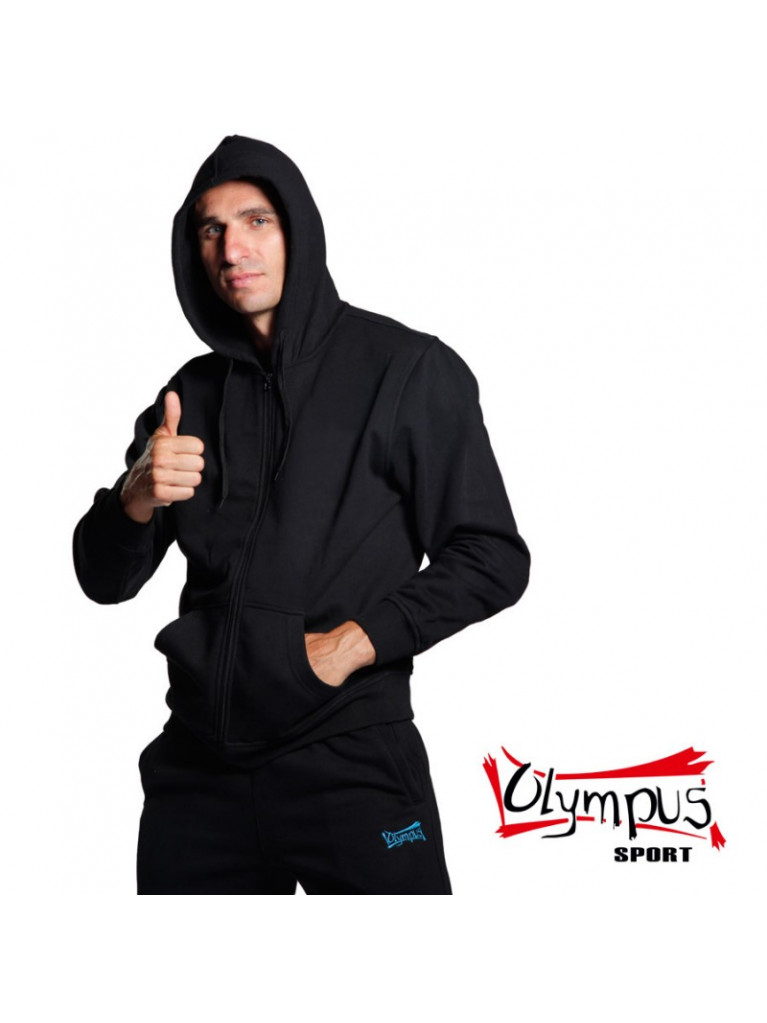 Sweater BUDO SPIRIT Black with Hood