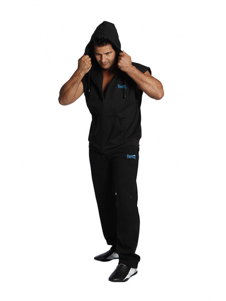 Jacket BUDO SPIRIT No Sleeves Black With Hood