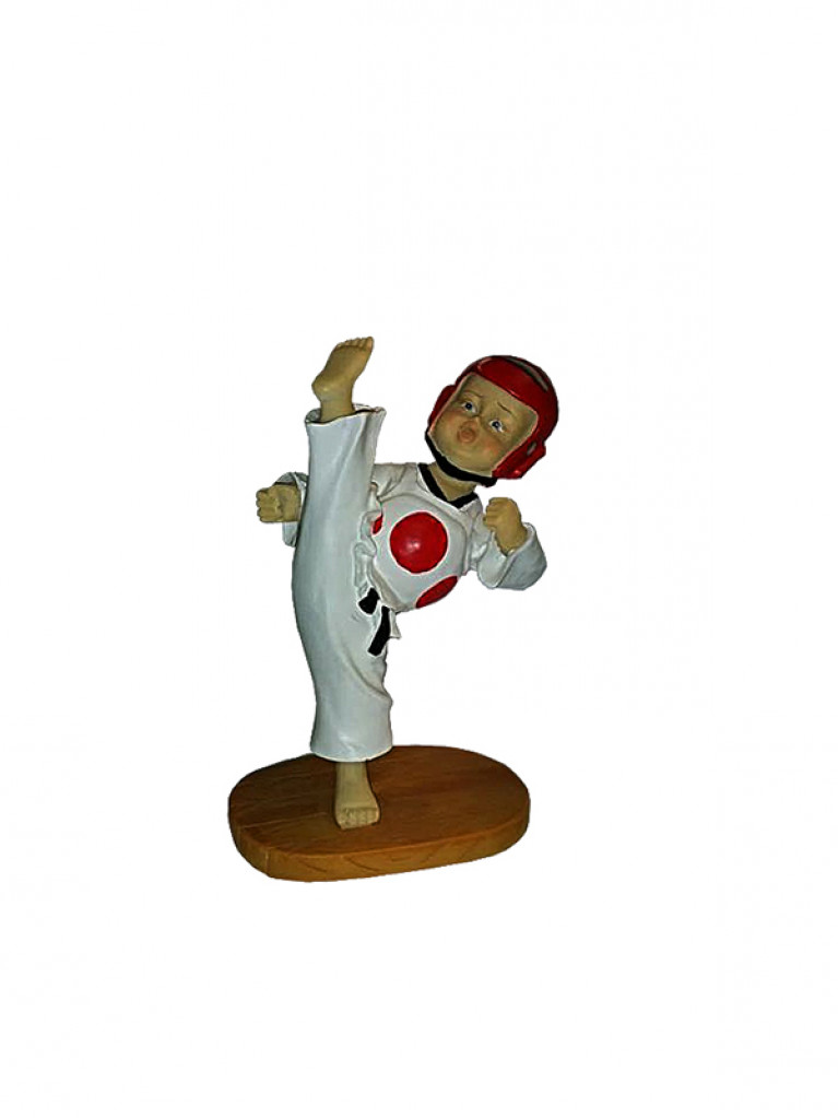 Taekwondo BABY KICK Statue 13cm