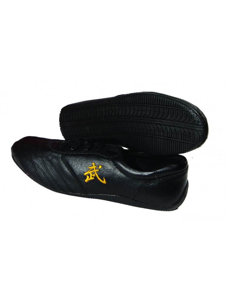 Wu-Shu Shoes LEATHER Black