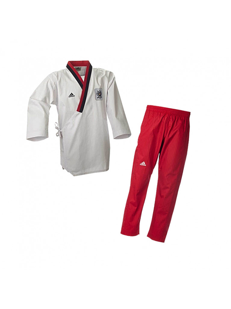 Dobok Adidas POOMSAE Youth Female White/Red – ADITPYF01