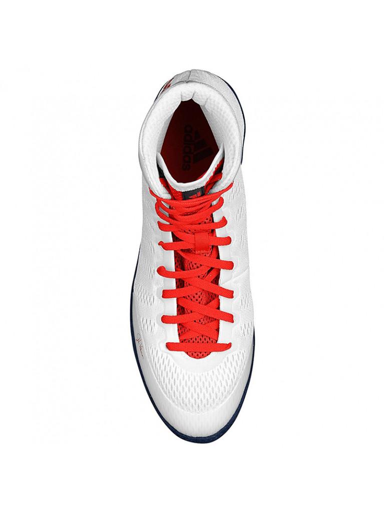 Wrestling Shoes adidas adiZero VARNER White/Red - M29839