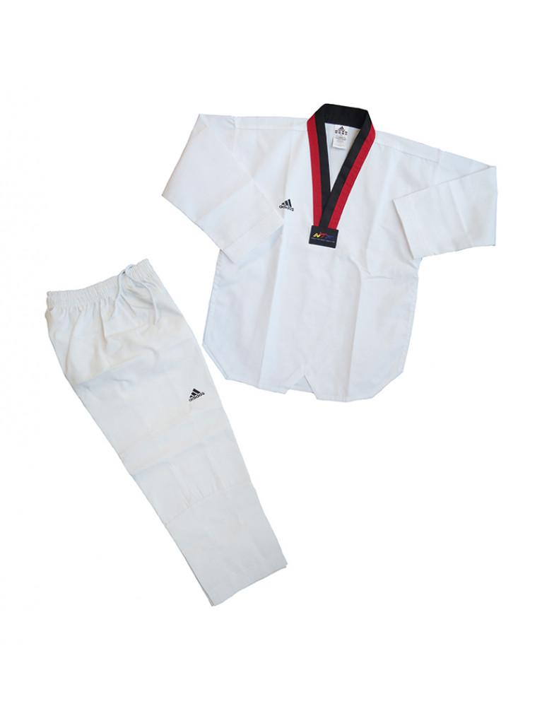 Taekwondo Uniform Adidas - ADI-CLUB Red/Black Collar - ADITCB01