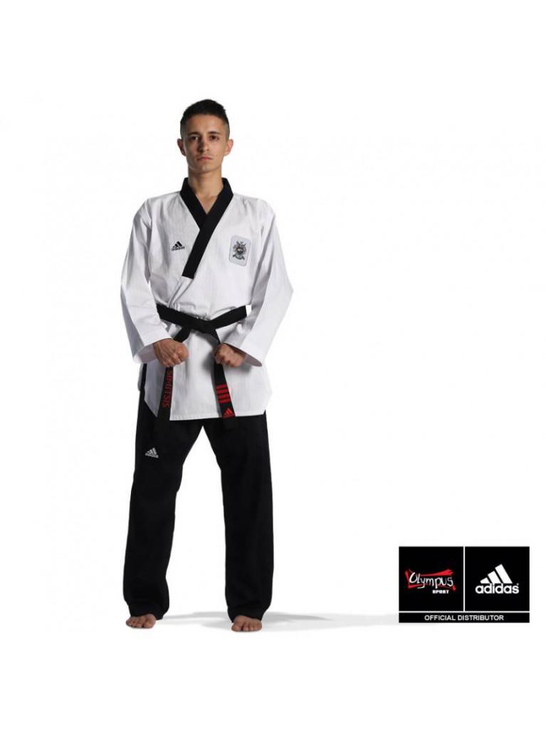 Dobok Adidas POOMSAE Adult Male White/Dark Blue – ADITPAM01